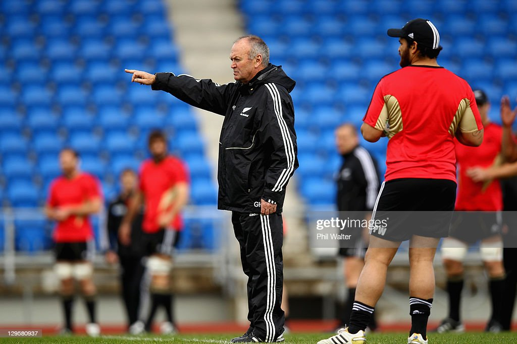 New Zealand IRB RWC 2011 Training and Media Session