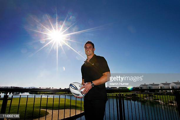 All Black Daniel Carter poses after his announcement regarding his resigning with the NZRU at Clearwater Golf Resort on May 18 2011 in Christchurch...