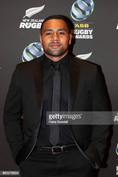 All Black Ngani Laumape on the red carpet during the ASB Rugby Awards 2018 at Sky City on December 14 2017 in Auckland New Zealand