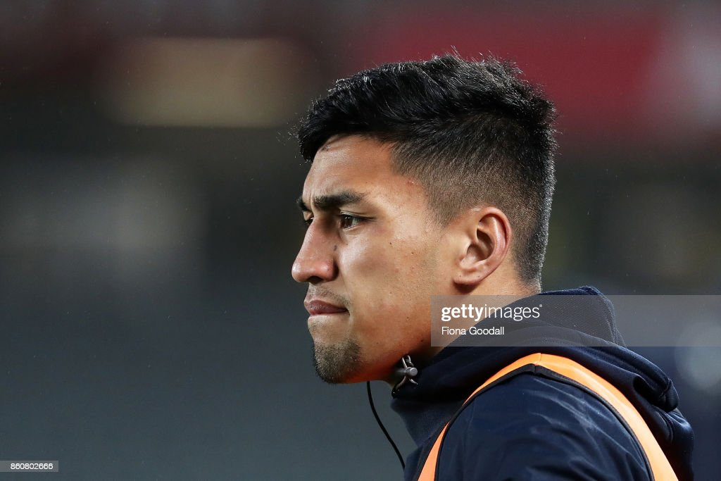 All Black Rieko Ioane on the sideline for Auckland during the round nine Mitre 10 Cup match between Auckland and Canterbury at Eden Park on October 13, 2017 in Auckland, New Zealand.