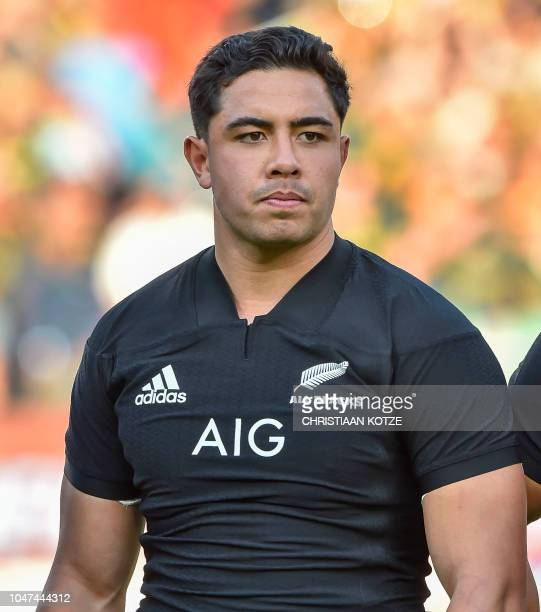 All Blacks' Anton LienertBrown stands before the start of the Rugby Championship match between South Africa and New Zealand at the Loftus Versfeld...
