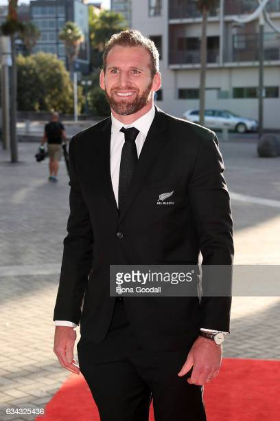 All Blacks captain Kieran Read arrives at the 54th Halberg Awards at Vector Arena on February 9 2017 in Auckland New Zealand