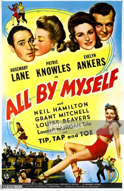 All By Myself poster US poster top from left Patric Knowles Rosemary Lane Evelyn Ankers Neil Hamilton 1943