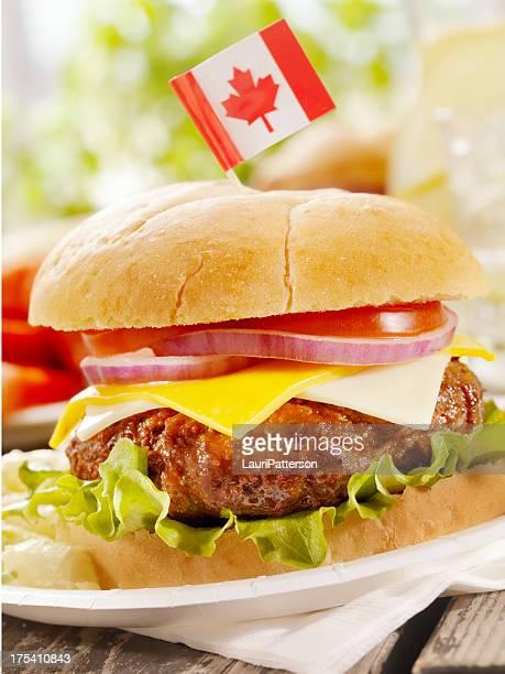 All Canadian Cheeseburger and Lemonade