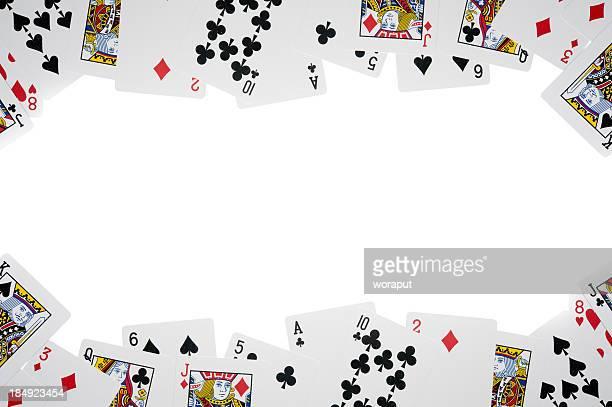 Todas as cartas isolado a branco