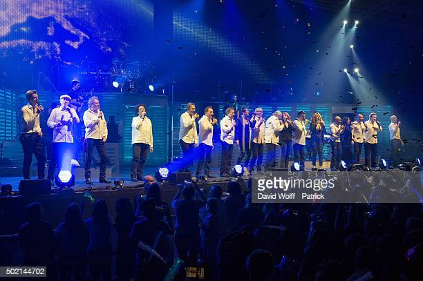 All cast from Stars 80 Cast perform during Stars 80 Show at AccorHotels Arena on December 20 2015 in Paris France