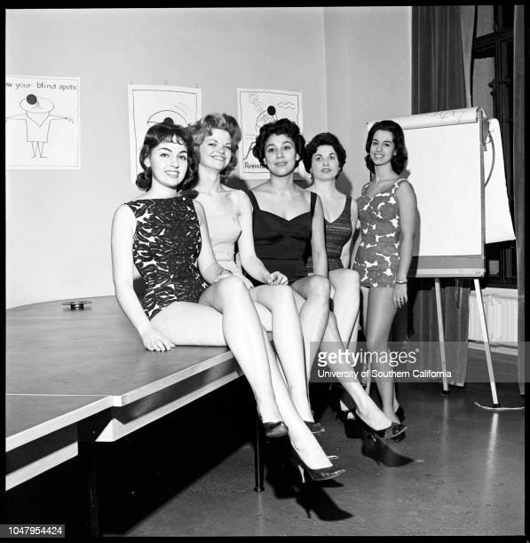 All City Employees Beauty Contest 01 December 1960 Evelyn FoxLin BrownCamelia HorasianRoslyn MarksPhyllis OstrowCaption slip reads 'Photographer Gray...