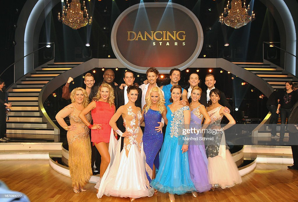 All contestants attend the TV Show 'Dancing Stars' at ORF Centeron April 19, 2013 in Vienna, Austria.