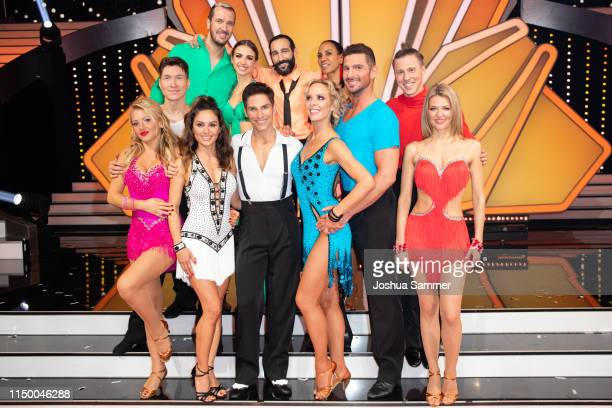 All contestants pose after the 8th show of the 12th season of the television competition Let's Dance on May 17 2019 in Cologne Germany