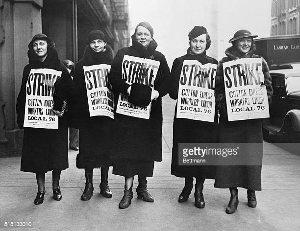 All cotton goods factories and shops workers in Chicago have been called on strike by the International Ladies' Garment Workers' Union which claims a...