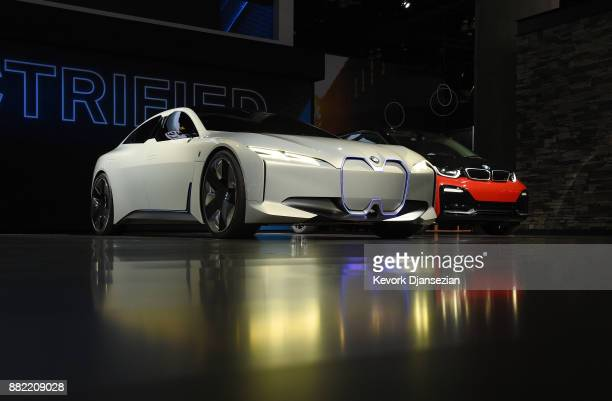 BMW all electric i Vision Dynamics concept car is introduced during the auto trade show AutoMobility LA at the Los Angeles Convention Center November...