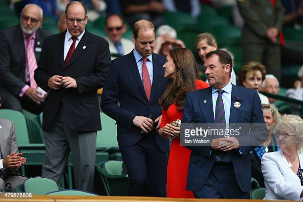All England Lawn Tennis Club Chairman Philip Brook Catherine Duchess of Cambridge and Prince William Duke of Cambridge and Prince Albert II of Monaco...
