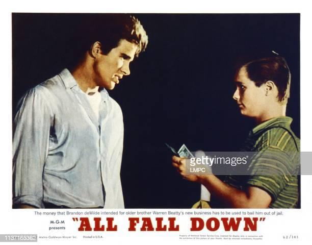 All Fall Down, US lobbycard, from left: Warren Beatty, Brandon De Wilde, 1962.