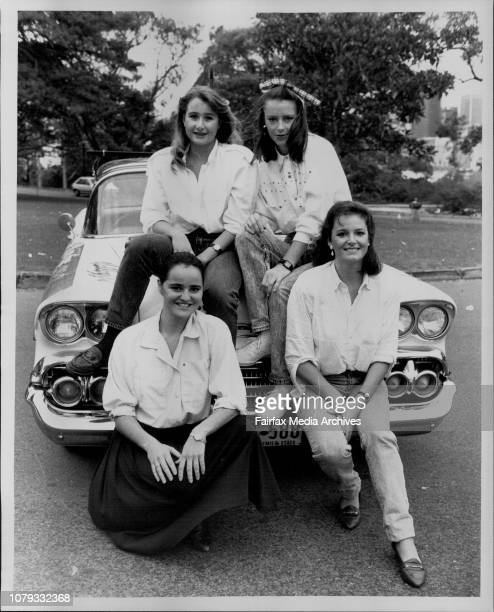 All girl team entering their 1958 Chevrolet in the Bourke to Barrier Reef Redex DashLeft to right TopMeaghan Sticpewich Margie MatthewsL to R...