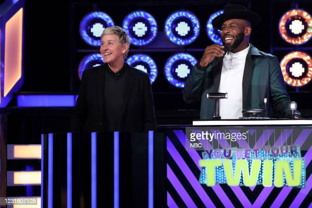 "All I Do Is Twin"" Episode 404 -- Pictured: Ellen DeGeneres, Stephen ""tWitch"" Boss --"