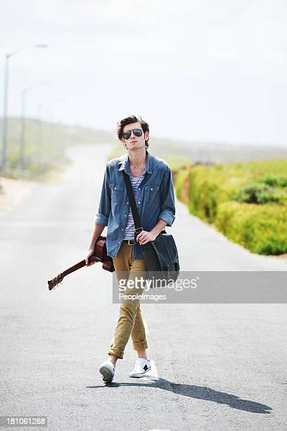 All I need is my guitar and the open road