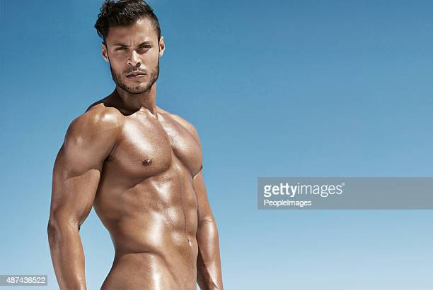 all i packed this vacation was a hot summer body - naturism stock photos and pictures