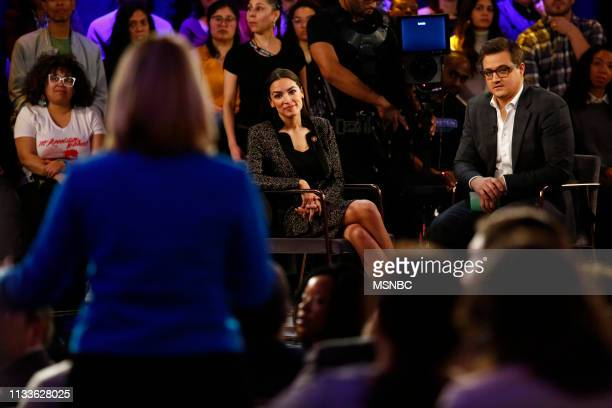 """All In America: The Green New Deal"""" -- Pictured: Alexandria Ocasio-Cortez, Chris Hayes --"""