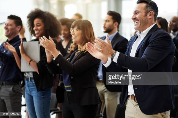 all in attendance, all in agreement - applauding stock pictures, royalty-free photos & images