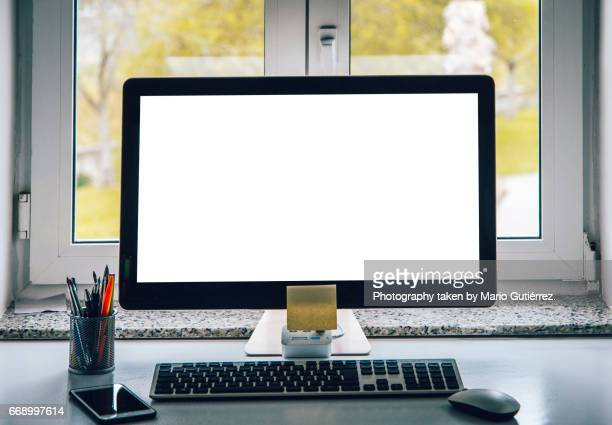 all in one computer - desktop pc stock photos and pictures