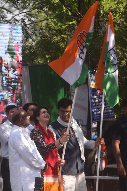IND: General Secretary And UP incharge Priyanka Gandhi Vadra flags off Congress Pratigya Yatra In Uttar Pradesh