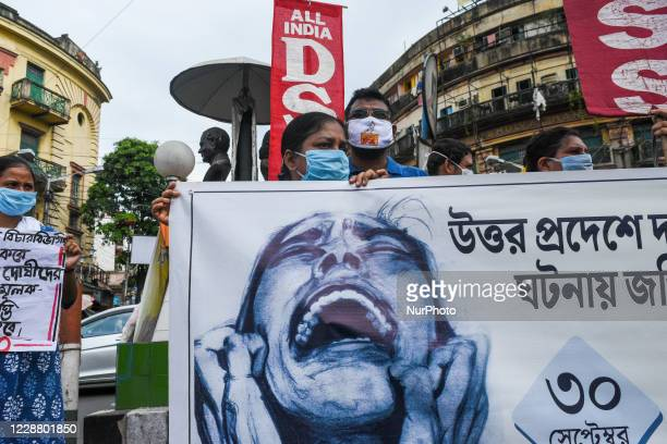 All India DSO political unit of Kolkata took out a protest rally against the alleged rape,torture and killing of 19 year of dalit woman in Hathras...