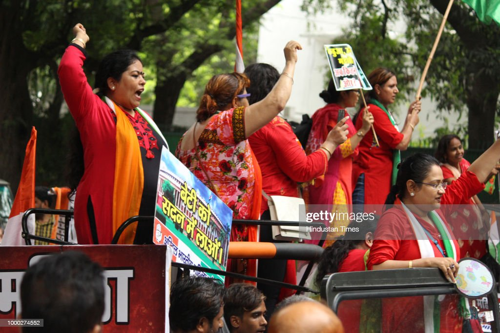 Congress Women Wing Protest Against Delay In Passage Of Women Reservation Bill
