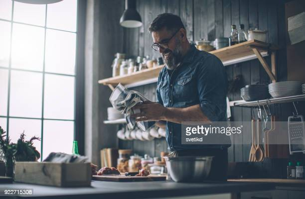 all ingredients need to be chopped - handsome 50 year old men stock pictures, royalty-free photos & images