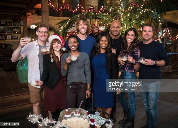 'All Is Bright' Pictured Behind the Scenes Barrett Foa Renée Felice Smith Andrea Bordeaux Eric Christian Olsen Nia Long LL COOL J Barrett Foa and...