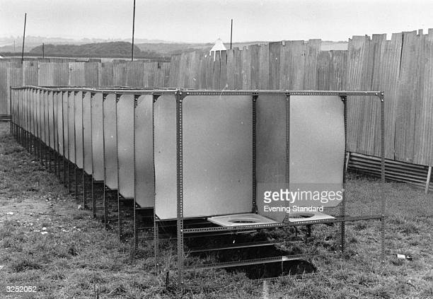 All mod cons at the Isle of Wight pop festival toilet facilities