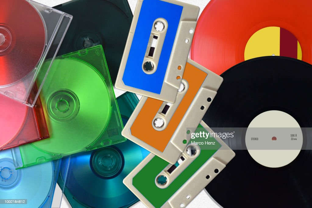 All music formats : Stock Photo