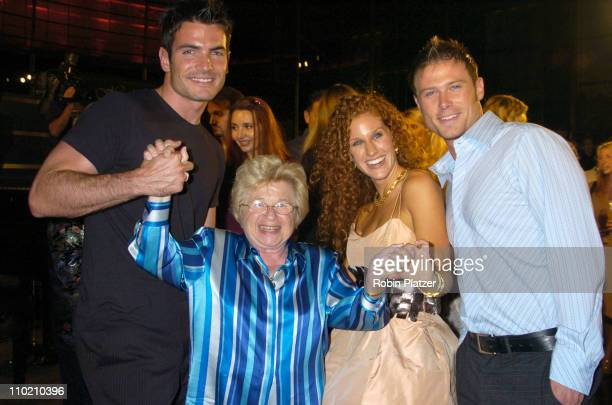 All My Children stars Jacob Young and Aiden Turner with designer Holly Kristen with Dr Ruth Westheimer