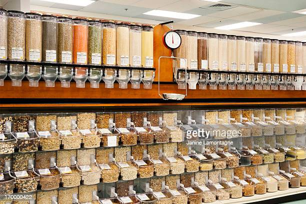 all natural bulk food dispensers - food staple stock pictures, royalty-free photos & images