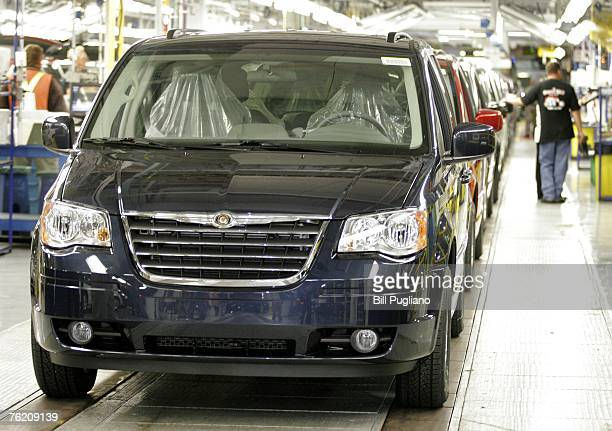All new 2008 Chrysler and Dodge minivans go through final assembly and inspection at the Windsor Assembly Plant August 21 2007 in Windsor Ontario...