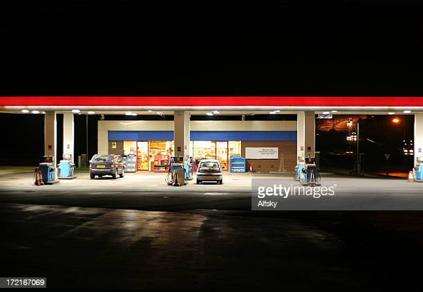 all night garage - convenience store stock photos and pictures