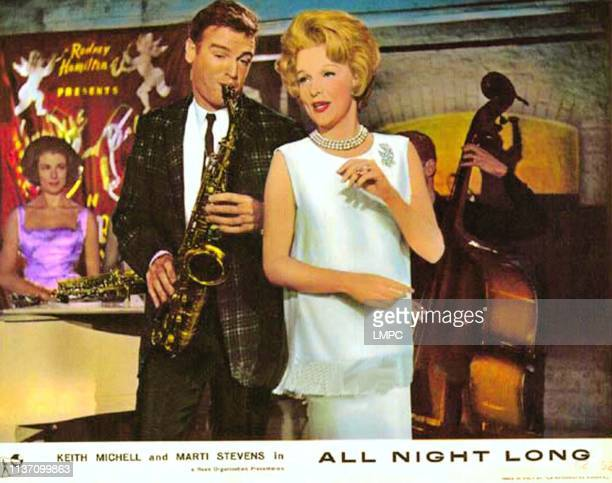 All Night Long lobbycard front from left Keith Micell Marti Stevens 1962