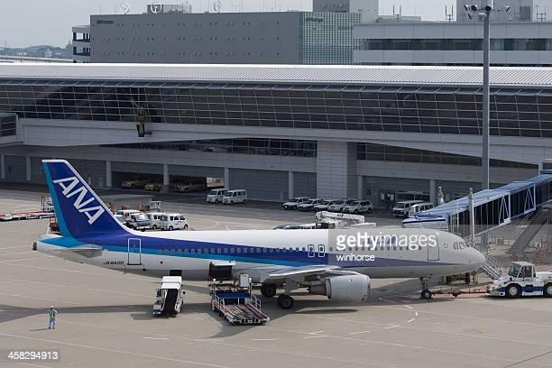 全日空エアバスエアバス a - 中部国際空港 ストックフォトと画像
