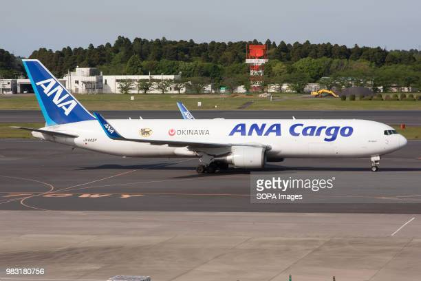 All Nippon Airways ANA Cargo Boeing 767300ER Freighter on the way to departure from Tokyo Narita airport
