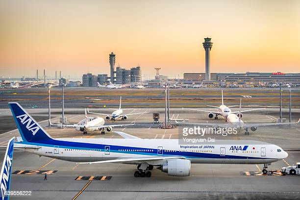 All Nippon Airways Boeing 777 at Haneda Airport