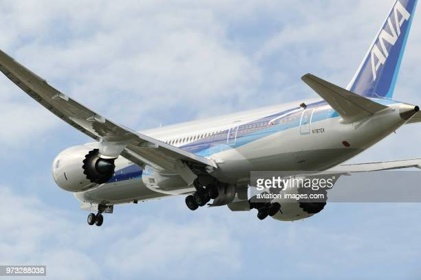 ANA All Nippon Airways Boeing 7878 Dreamliner climbing out after takeoff