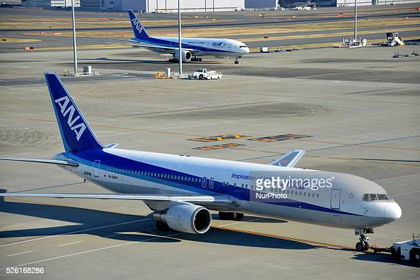 All Nippon Airways' planes are seen at Haneda airport in Tokyo January 14 2016 Tokyo's Haneda airport the world's fourth busiest hub