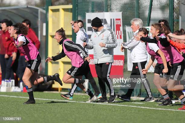 All players of Juventus Women U19 celebrates the victory after during the Viareggio Women's Cup match between Juventus U19 and FC Internazionale U19...