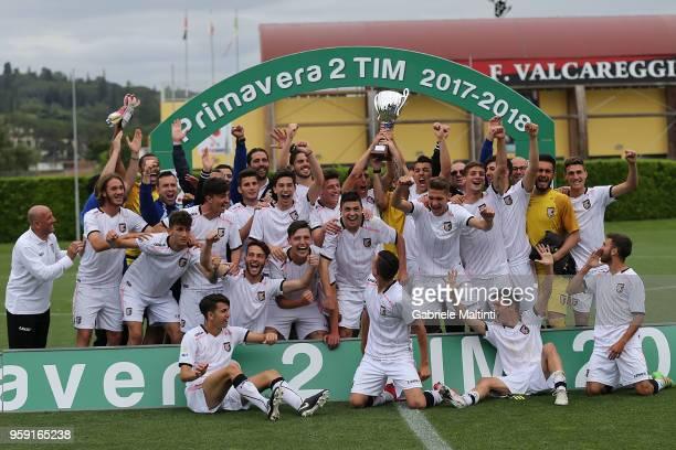 All players of US Citta' di Palermo U19 celebrate the victory during the SuperCoppa primavera 2 match between Novara U19 and US Citta di Palermo U19...