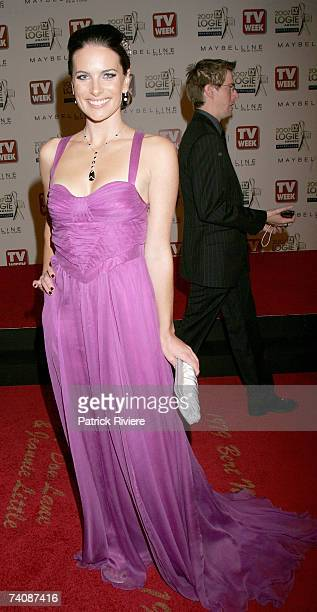 All Saints actress Jolene Anderson arrive at the 2007 TV Week Logie Awards at the Crown Casino on May 6 2007 in Melbourne Australia The annual...