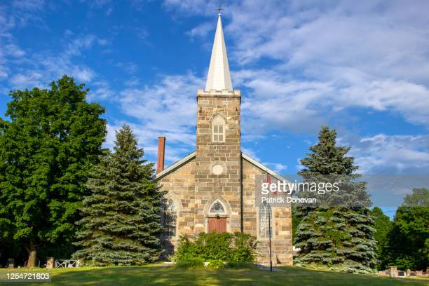 all saints anglican church, dunham, quebec - anglican stock pictures, royalty-free photos & images