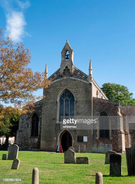 all saints church, king's lynn - chert stock photos and pictures