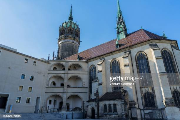 all saints' church - lutherstadt wittenberg, germany - lutherstadt wittenberg stock pictures, royalty-free photos & images