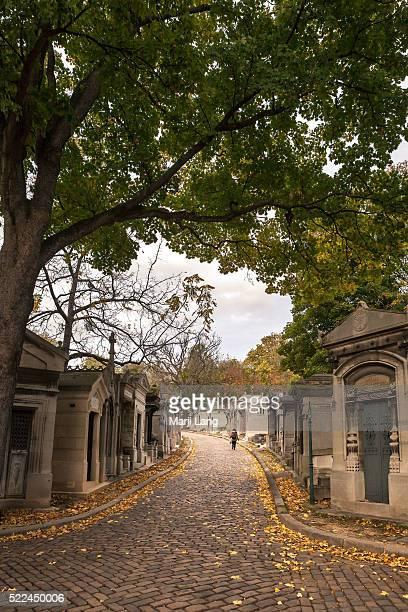 PARIS FRANCE PARIS FRANCE All Saints day at the Pere Lachaise cemetery in Paris France Père Lachaise Cemetery is the largest cemetery in the city of...