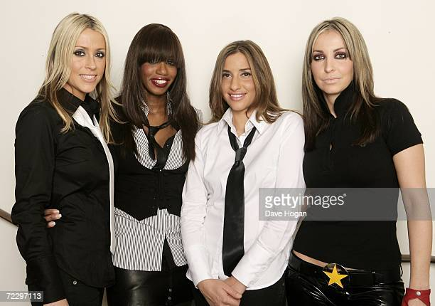 All Saints Nicole Appleton Shaznay Lewis Melanie Blatt and Natalie Appleton pose backstage following their performance on stage at Shepherds Bush...