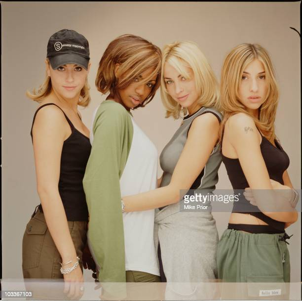 All Saints posed for a group portrait in a London photographic studio in 1997 LR Nicole Appleton Shaznay Lewis Natalie Appleton Melanie Blatt